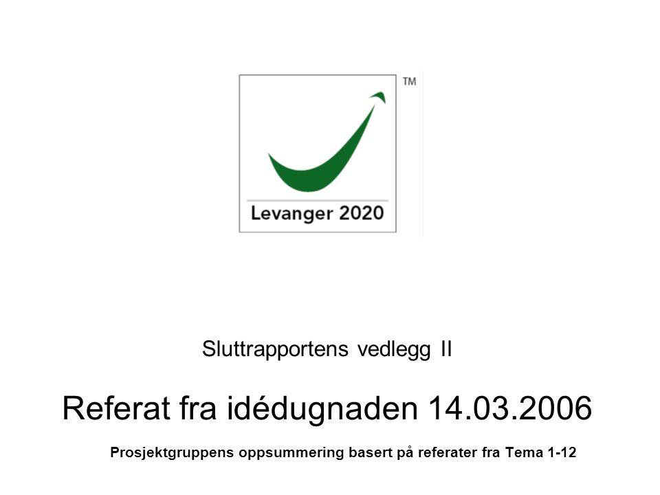Sluttrapportens vedlegg II Referat fra idédugnaden 14.03.2006