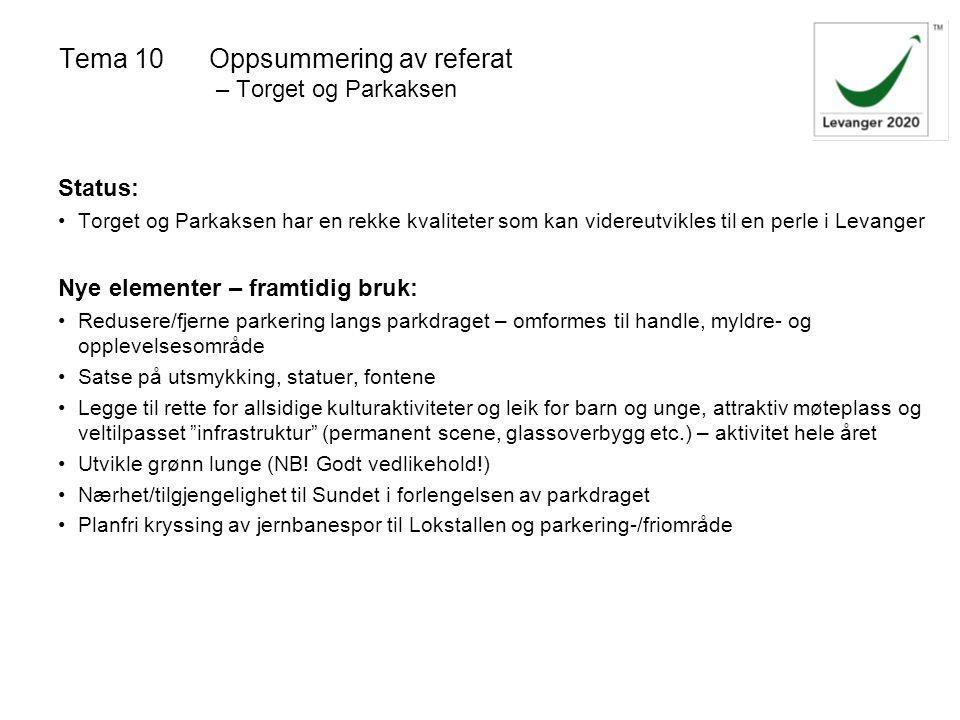 Tema 10 Oppsummering av referat – Torget og Parkaksen