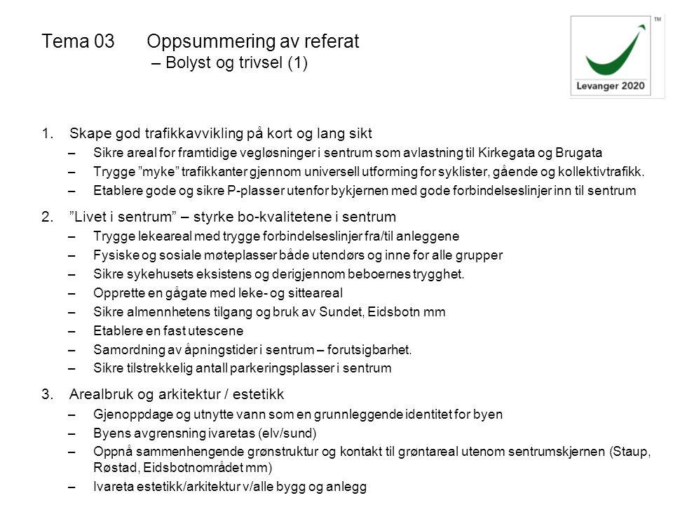 Tema 03 Oppsummering av referat – Bolyst og trivsel (1)