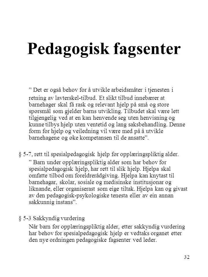 Pedagogisk fagsenter