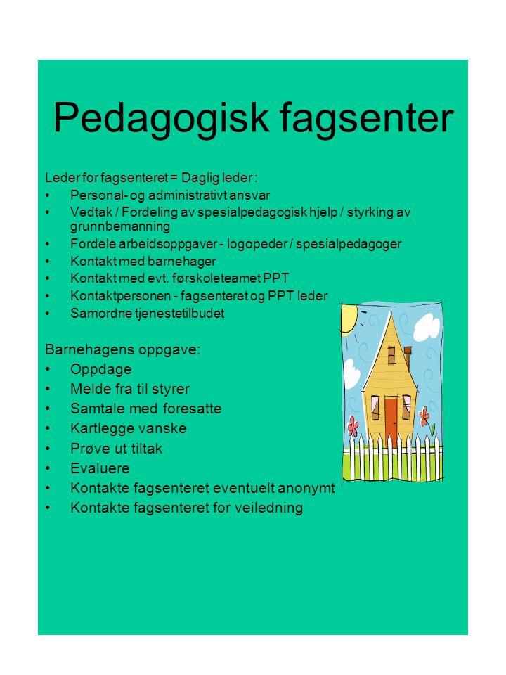 Pedagogisk fagsenter Barnehagens oppgave: Oppdage Melde fra til styrer