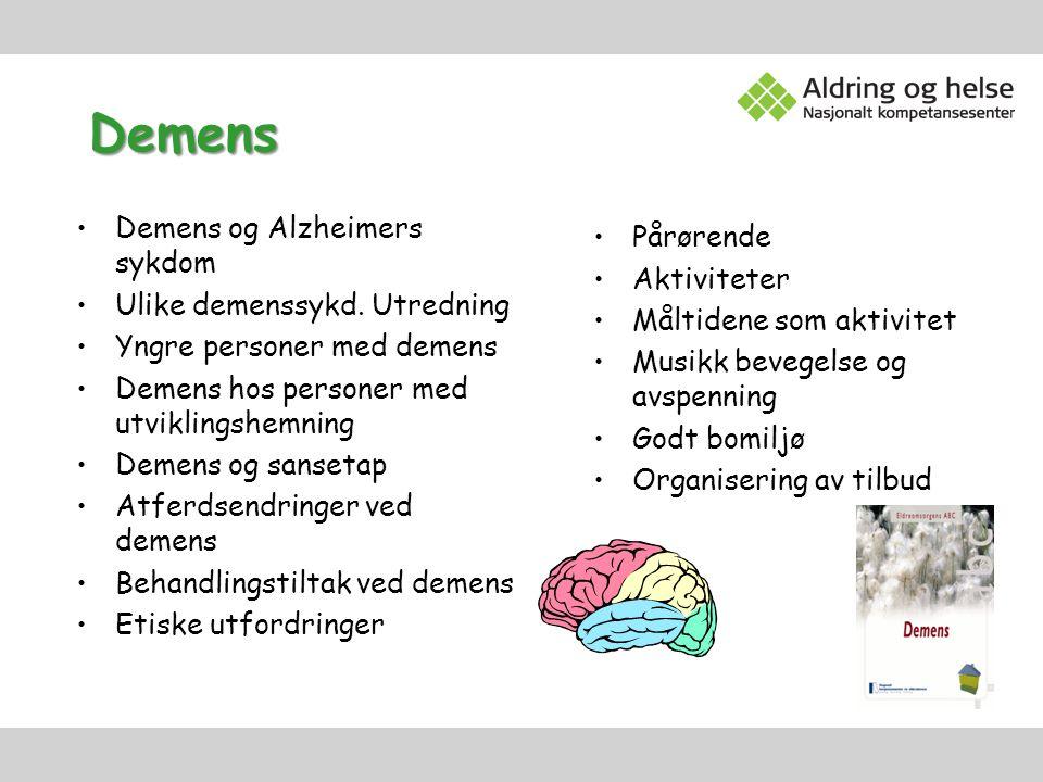 Demens Pårørende Aktiviteter Demens og Alzheimers sykdom
