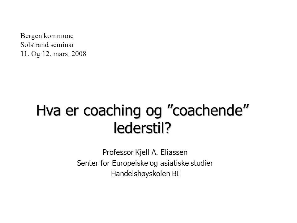 Hva er coaching og coachende lederstil