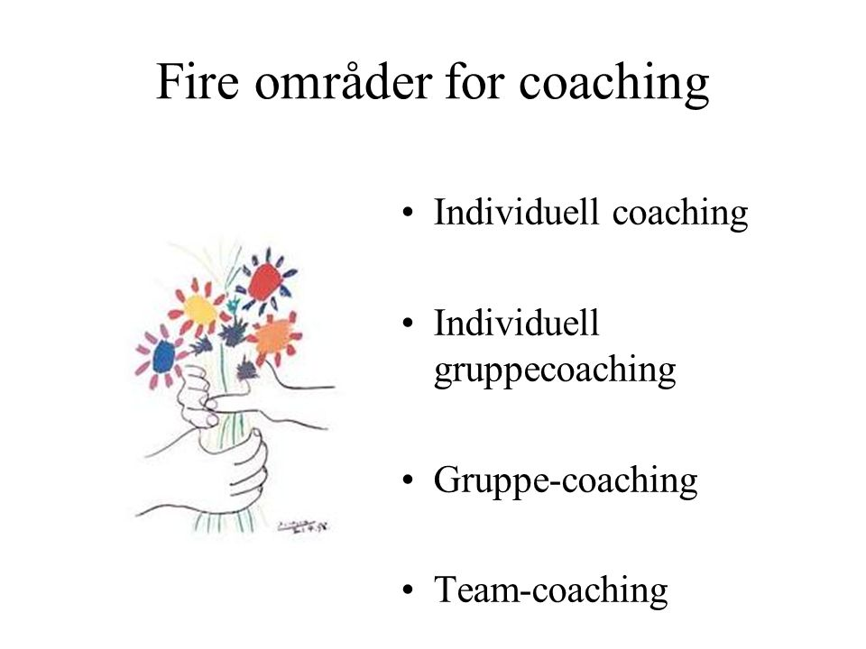 Fire områder for coaching