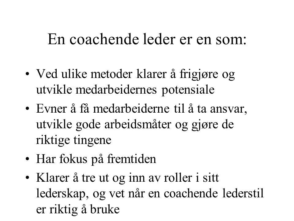 En coachende leder er en som: