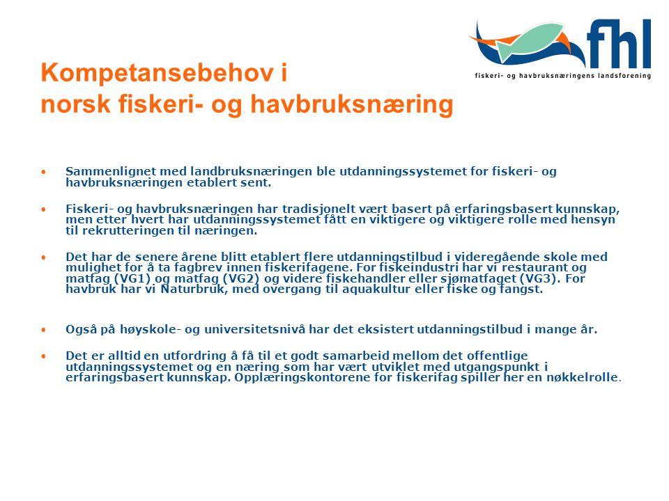 Kompetansebehov i norsk fiskeri- og havbruksnæring