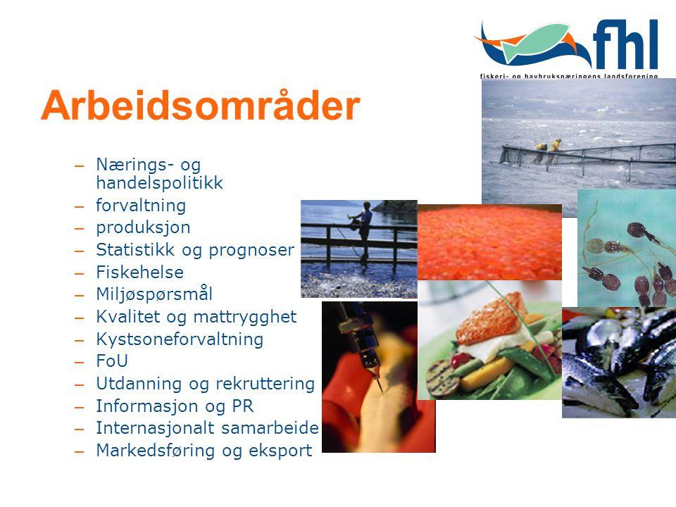 Arbeidsområder Nærings- og handelspolitikk forvaltning produksjon