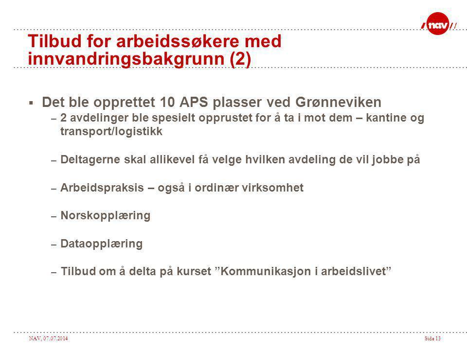 Tilbud for arbeidssøkere med innvandringsbakgrunn (2)