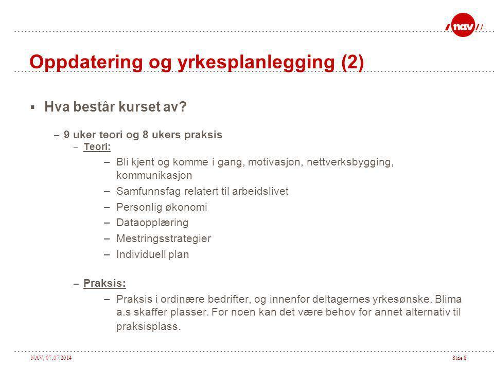 Oppdatering og yrkesplanlegging (2)