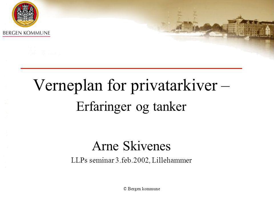 Verneplan for privatarkiver –