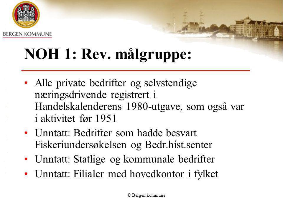 NOH 1: Rev. målgruppe: