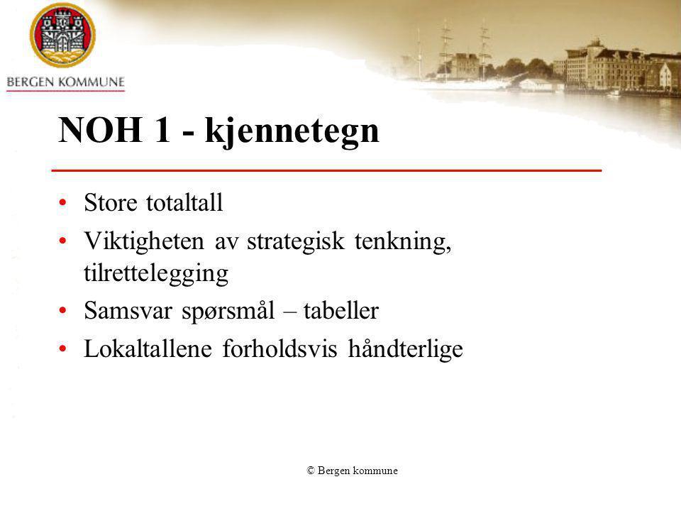 NOH 1 - kjennetegn Store totaltall