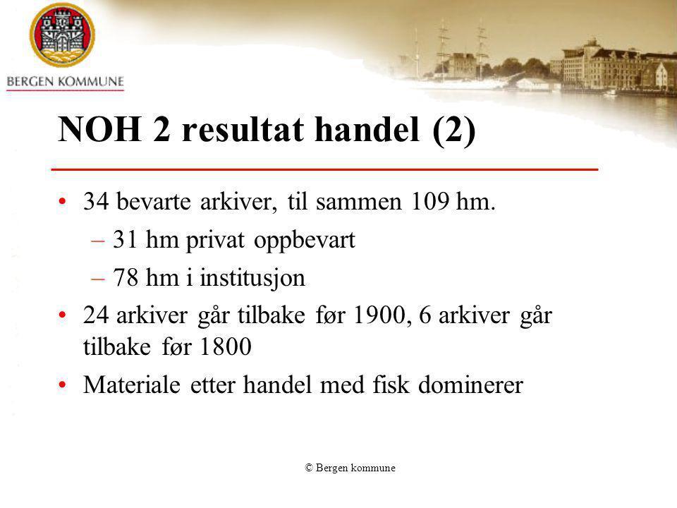 NOH 2 resultat handel (2) 34 bevarte arkiver, til sammen 109 hm.