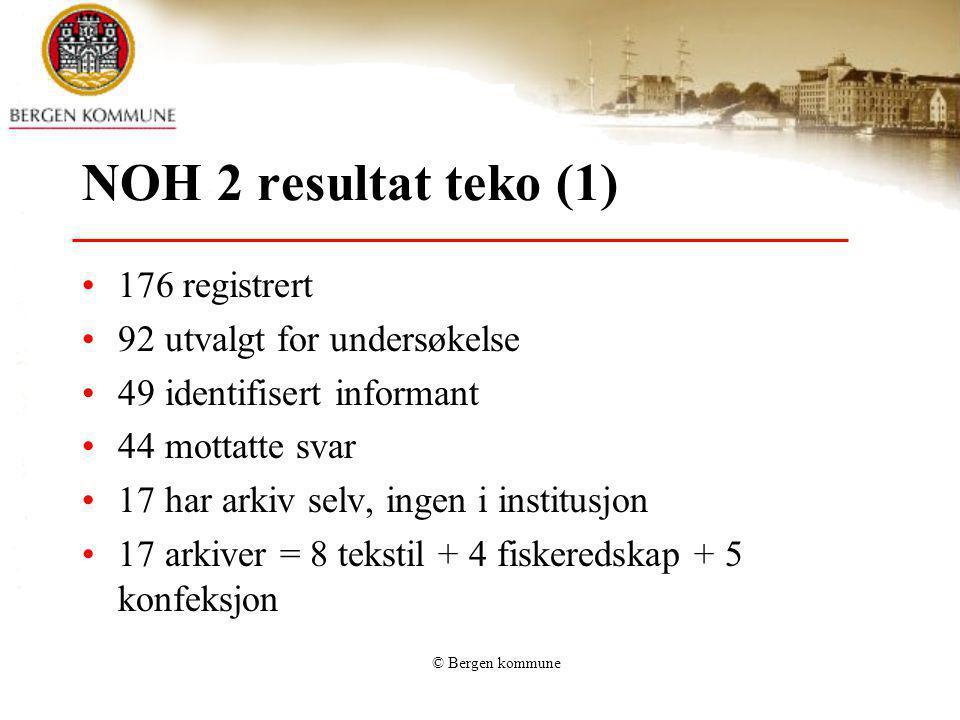 NOH 2 resultat teko (1) 176 registrert 92 utvalgt for undersøkelse