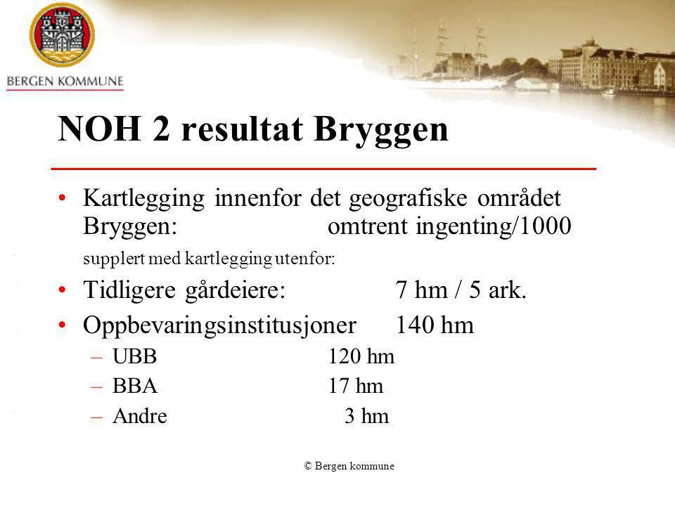 NOH 2 resultat Bryggen Kartlegging innenfor det geografiske området Bryggen: omtrent ingenting/1000.
