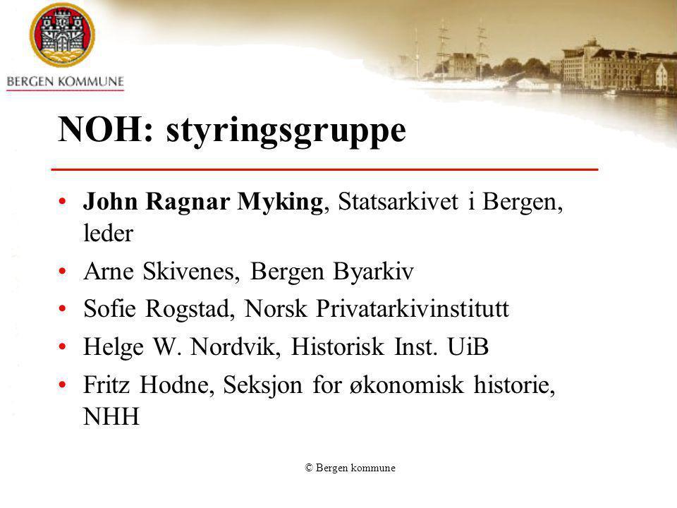 NOH: styringsgruppe John Ragnar Myking, Statsarkivet i Bergen, leder