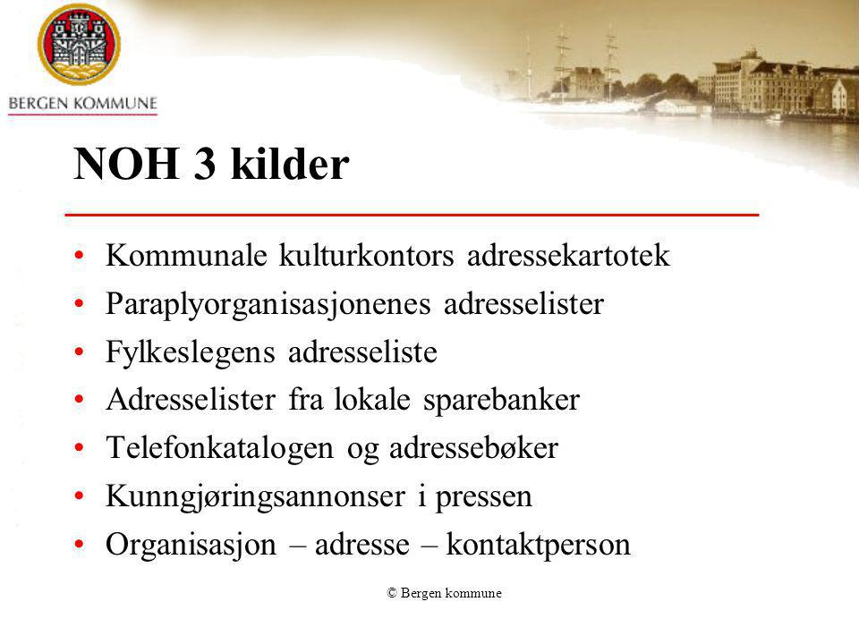 NOH 3 kilder Kommunale kulturkontors adressekartotek