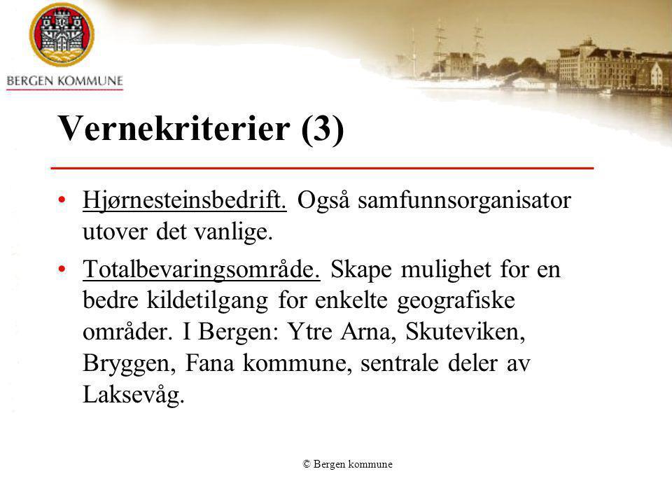 Vernekriterier (3) Hjørnesteinsbedrift. Også samfunnsorganisator utover det vanlige.