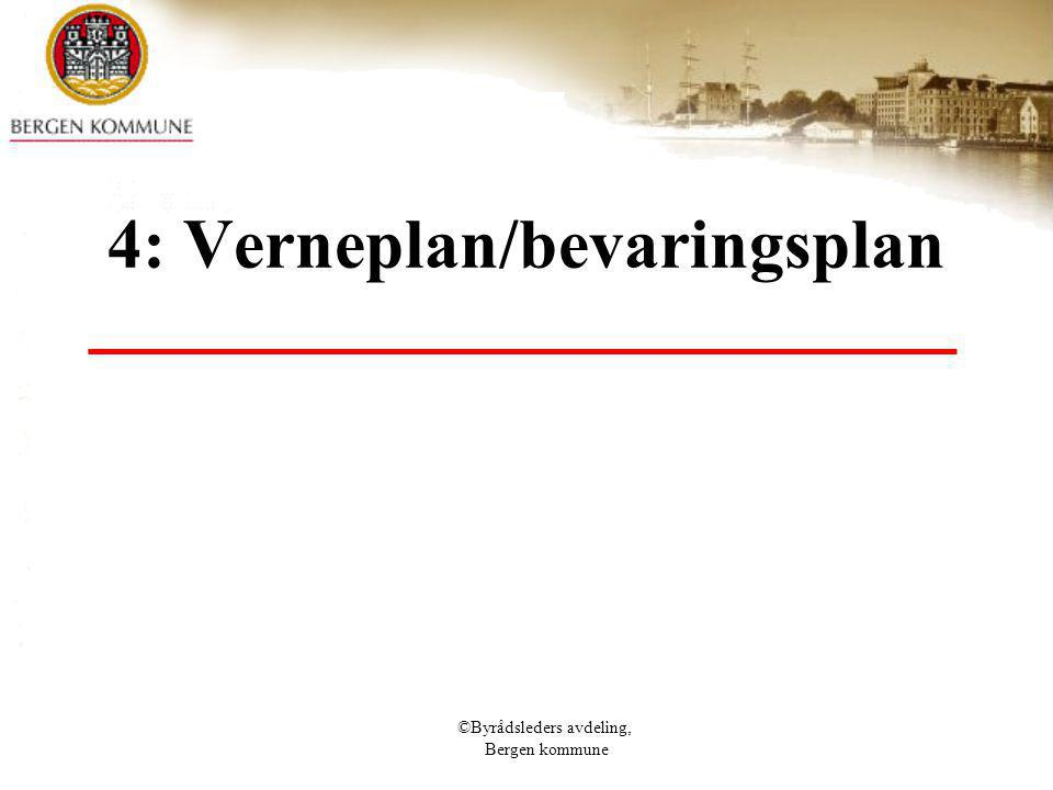 4: Verneplan/bevaringsplan