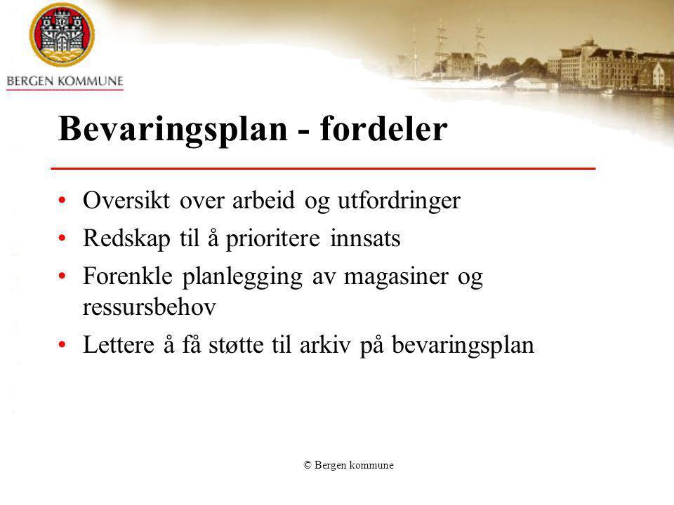 Bevaringsplan - fordeler