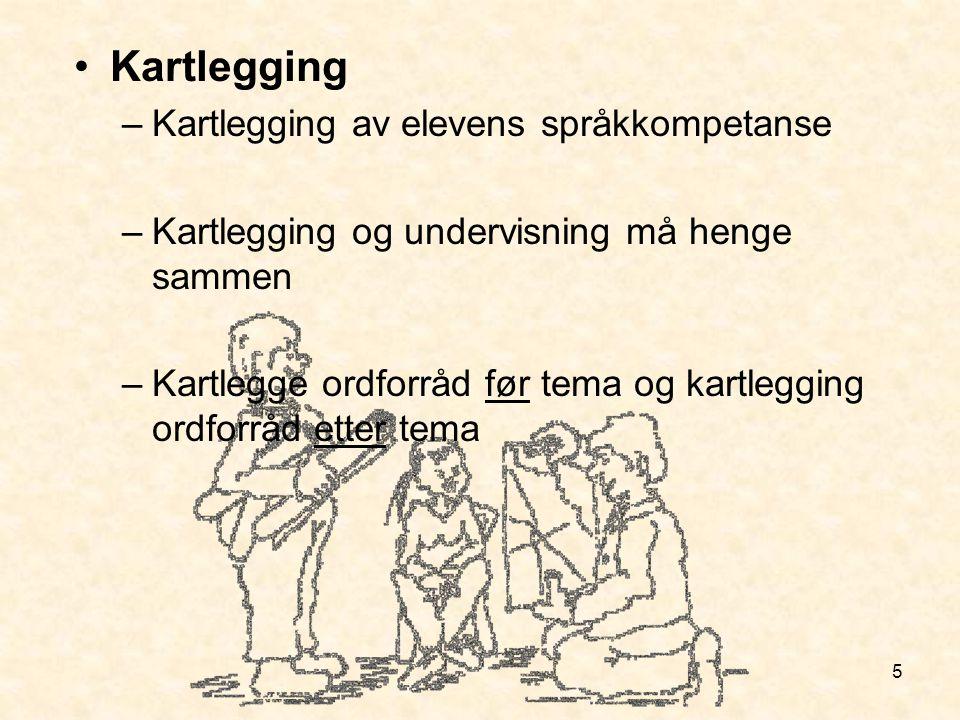 Kartlegging Kartlegging av elevens språkkompetanse