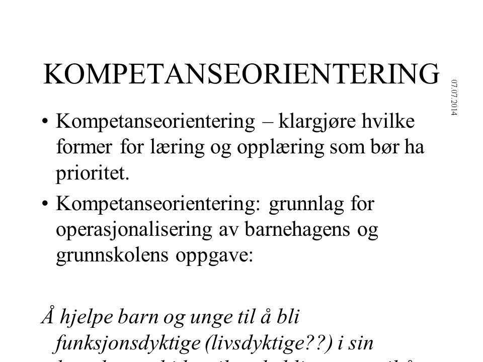 KOMPETANSEORIENTERING