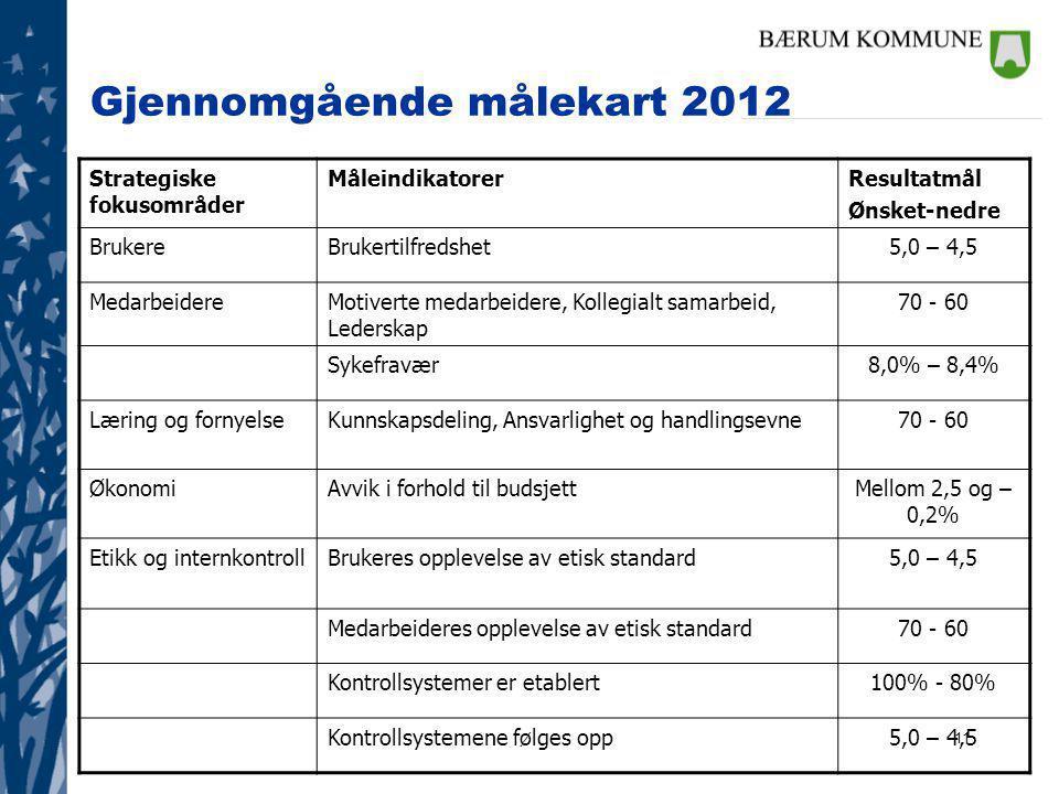Gjennomgående målekart 2012