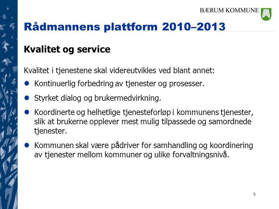 Rådmannens plattform 2010–2013