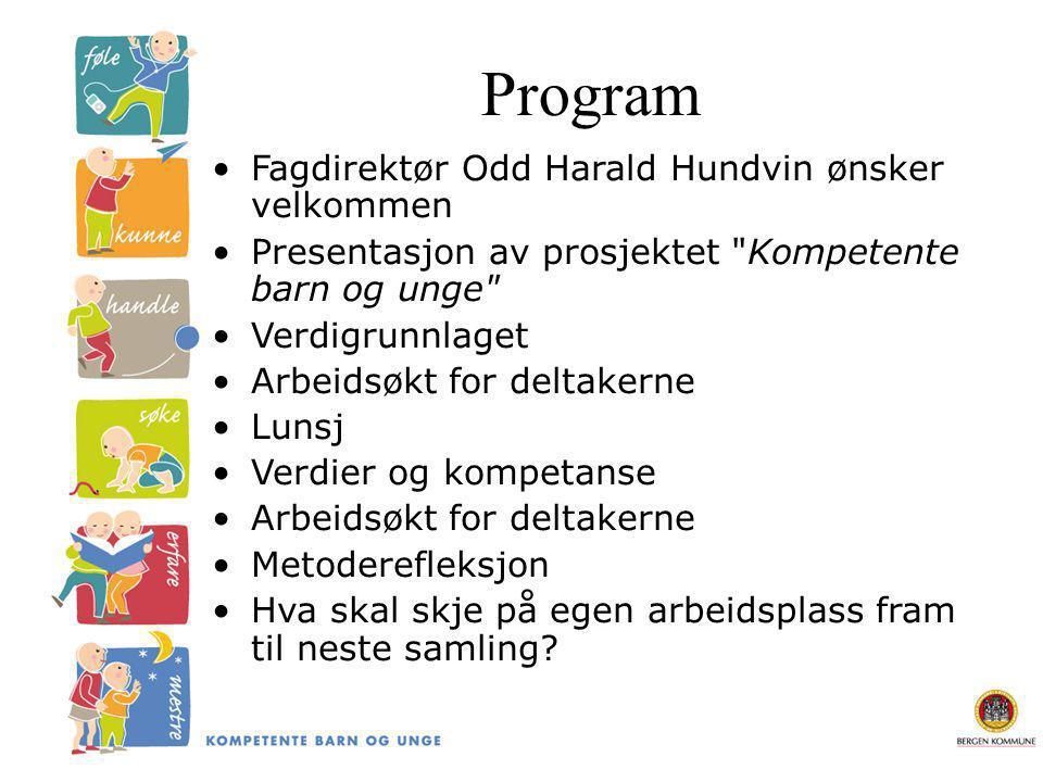 Program Fagdirektør Odd Harald Hundvin ønsker velkommen