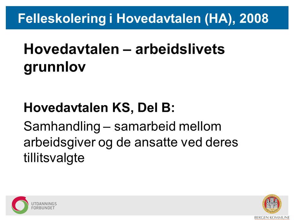 Felleskolering i Hovedavtalen (HA), 2008