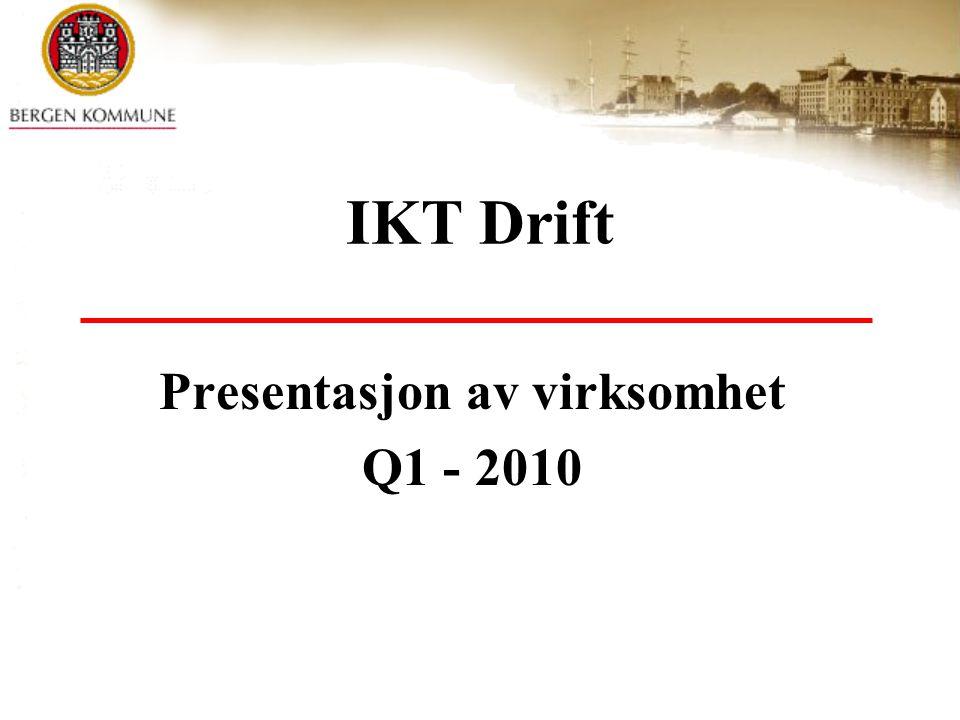 Presentasjon av virksomhet Q1 - 2010