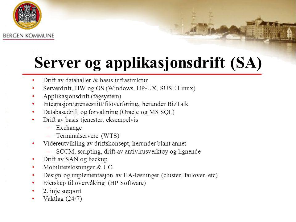 Server og applikasjonsdrift (SA)