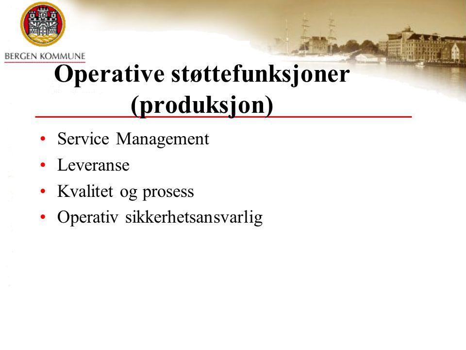 Operative støttefunksjoner (produksjon)