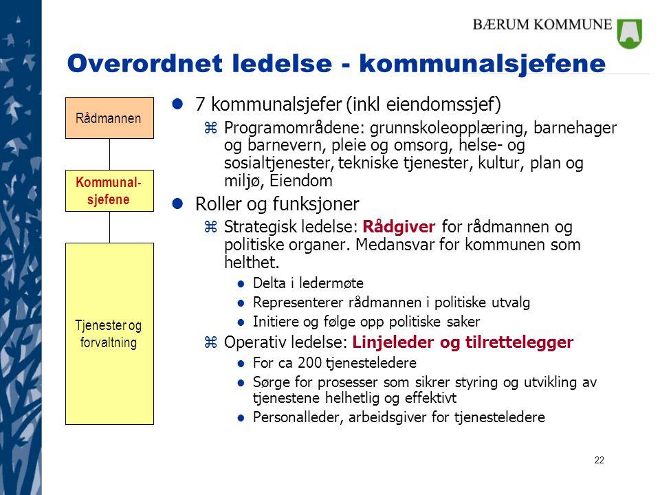 Overordnet ledelse - kommunalsjefene