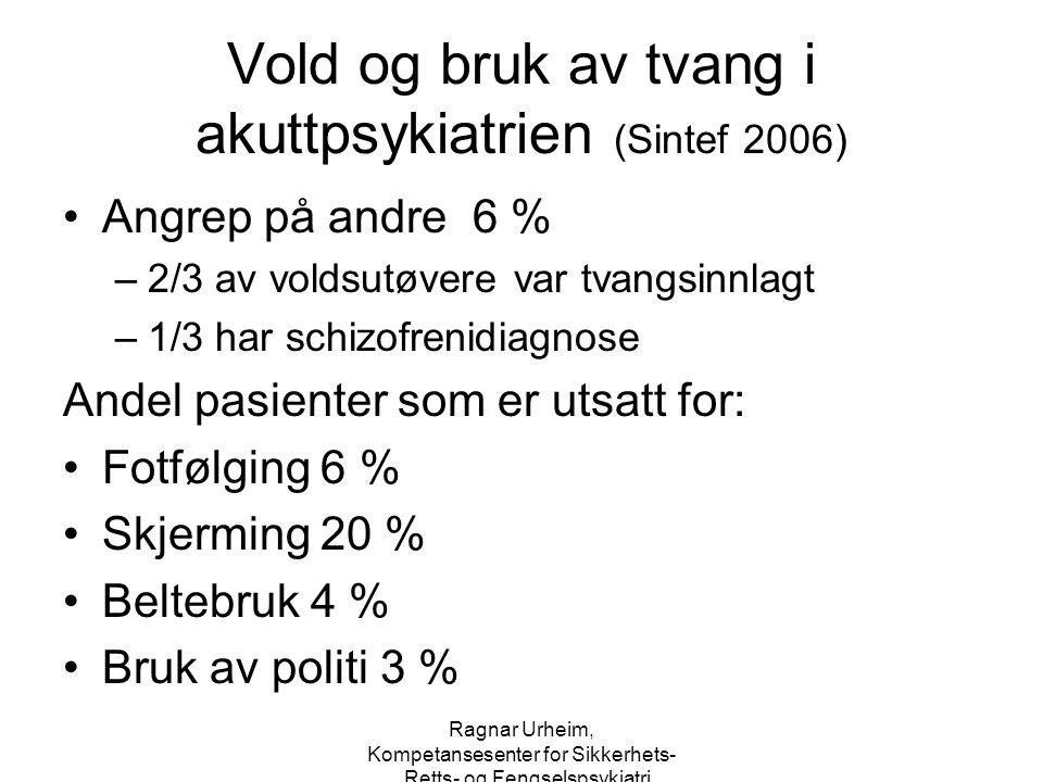 Vold og bruk av tvang i akuttpsykiatrien (Sintef 2006)