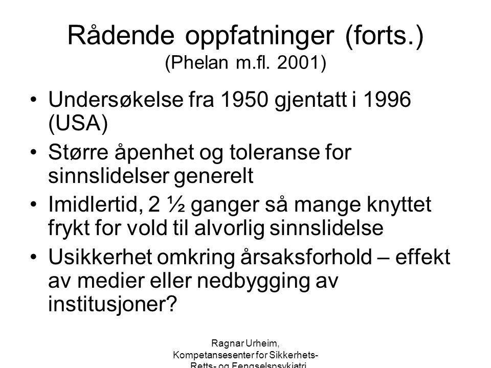 Rådende oppfatninger (forts.) (Phelan m.fl. 2001)