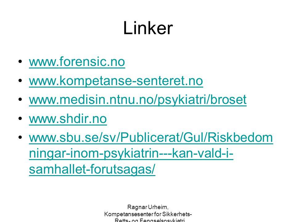 Linker www.forensic.no www.kompetanse-senteret.no