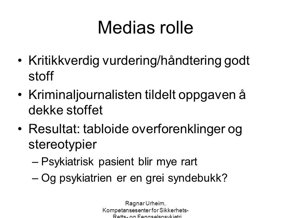 Medias rolle Kritikkverdig vurdering/håndtering godt stoff