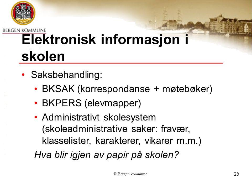 Elektronisk informasjon i skolen