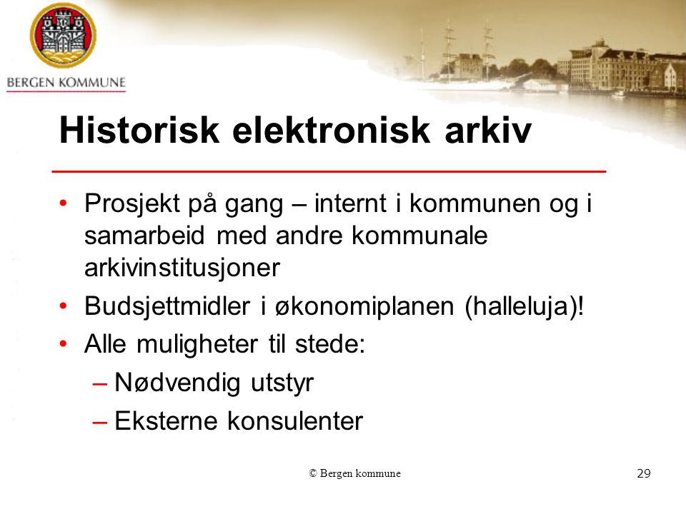 Historisk elektronisk arkiv