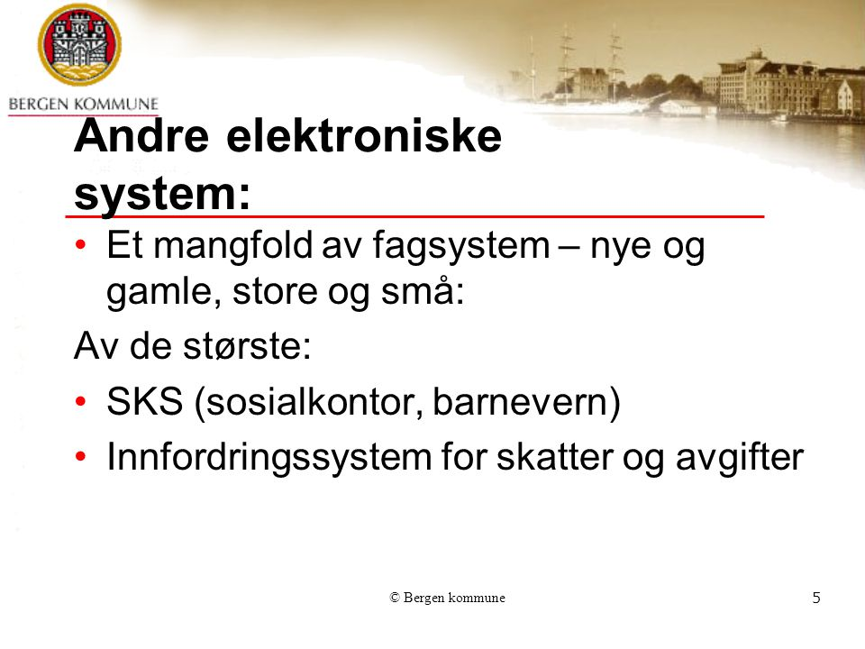 Andre elektroniske system: