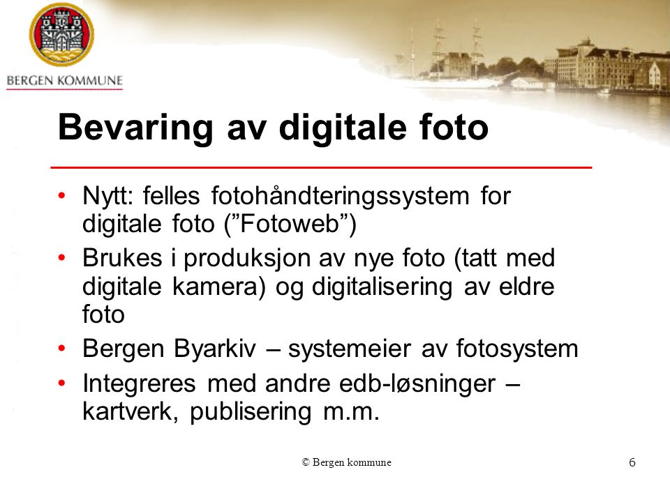 Bevaring av digitale foto