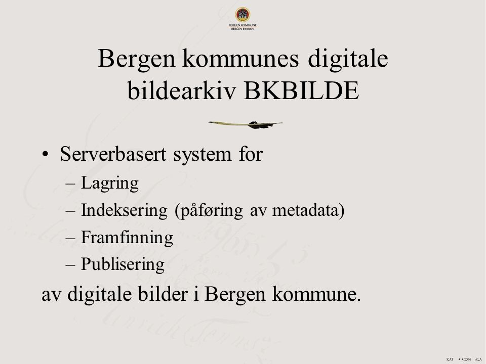 Bergen kommunes digitale bildearkiv BKBILDE