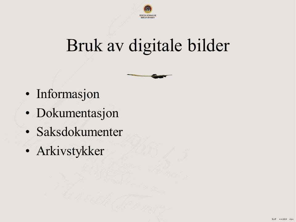 Bruk av digitale bilder