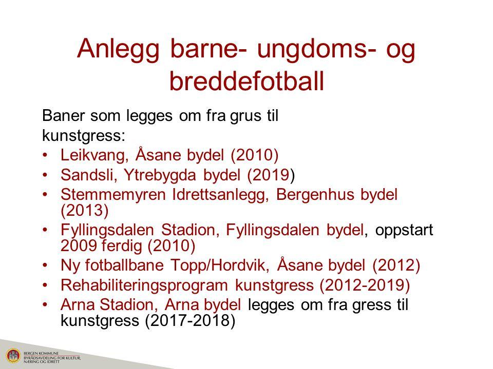 Anlegg barne- ungdoms- og breddefotball