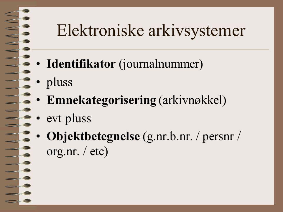 Elektroniske arkivsystemer