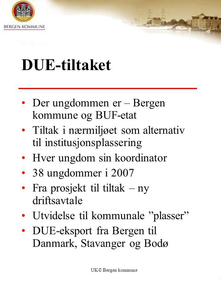 DUE-tiltaket Der ungdommen er – Bergen kommune og BUF-etat