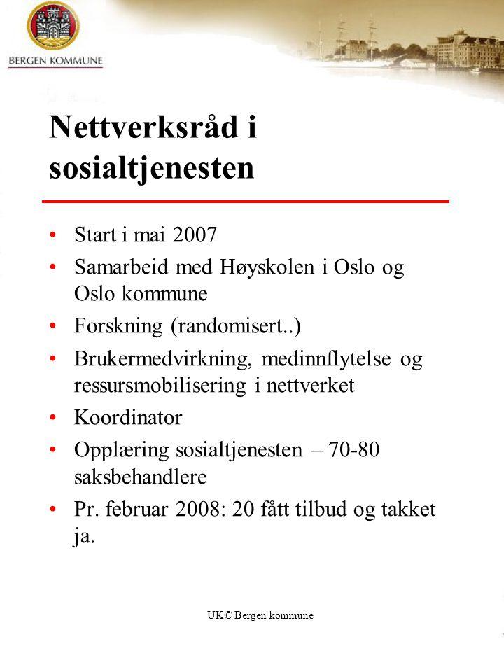 Nettverksråd i sosialtjenesten