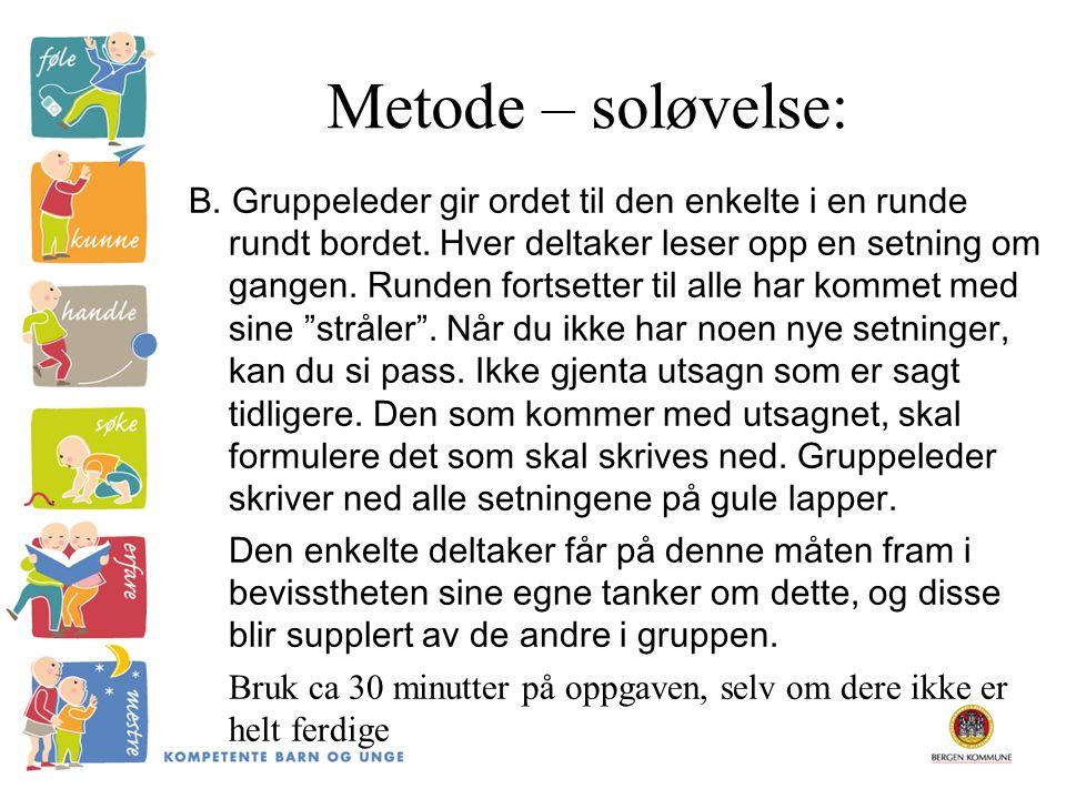 Metode – soløvelse:
