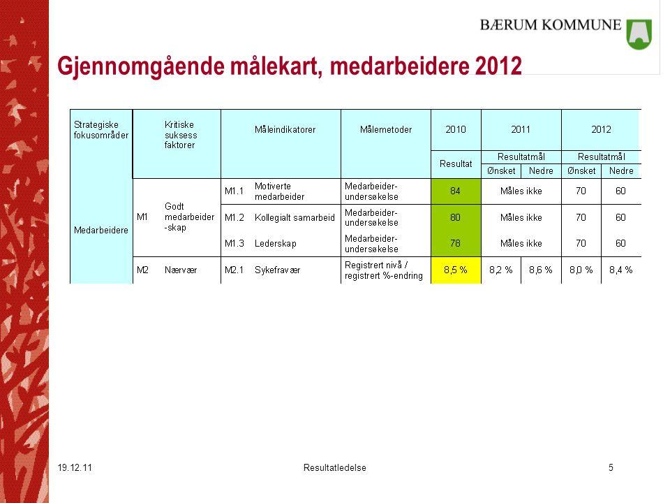 Gjennomgående målekart, medarbeidere 2012